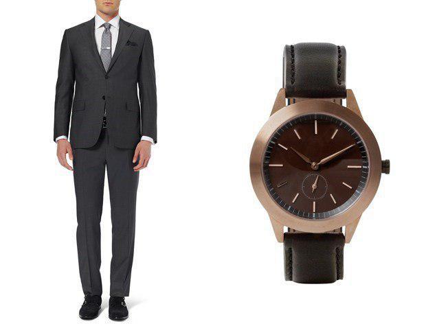 چطور ساعتتان را با کت و شلوارتان ست کنید2